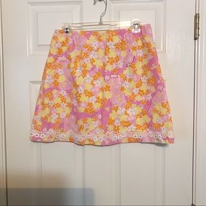 Lilly Pulitzer Pink Floral Skirt